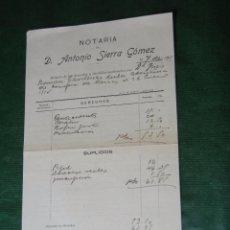 Documentos antiguos: MINUTA NOTARIA ANTONIO SIERRA GOMEZ, JEREZ DE LA FRONTERA 1920. Lote 57407119