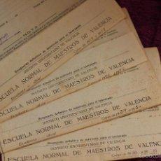 Documentos antiguos: LOTE DE DOCUMENTOS DE LA ESCUELA NORMAL DE MAESTROS DE VALENCIA-AÑOS 1928-29-30-31. Lote 57439692