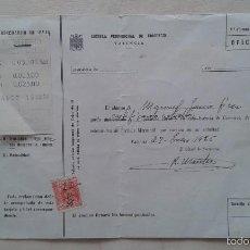 Documentos antiguos: CERTIFICADO DE ESTUDIOS -- SELLO FISCAL DE 25 CTS -- TICKET RESGUARDO DE PAGOS -- VALENCIA, 1955 -- . Lote 57450446