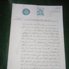 Documentos antiguos: DOCUMENTO NOTARIAL PODER NOTARIA ALFONSO GRANDE, BARCELONA 1928. Lote 57470056