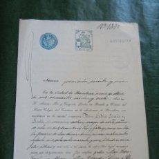 Documentos antiguos: DOCUMENTO NOTARIAL PODER NOTARIA ANTONIO PAR Y TUSQUETS, BARCELONA, 1927. Lote 57503782