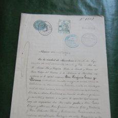 Documentos antiguos: DOCUMENTO NOTARIAL PODER NOTARIA ANTONIO PAR Y TUSQUETS, BARCELONA, 1923 . Lote 57504779