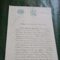 Documentos antiguos: DOCUMENTO NOTARIAL PODER NOTARIA ANTONIO PAR Y TUSQUETS, BARCELONA, 1922 . Lote 57504793
