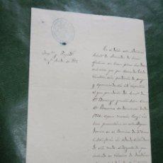 Documentos antiguos: ESCRITO SELLO ADMINISTRACION.SUBALTERNA HACIENDA JEREZ DE LA FRONTERA 1889. Lote 57626547