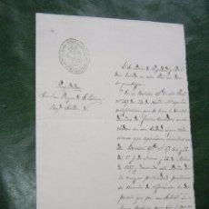 Documentos antiguos: ESCRITO SELLO ADMINISTRACION.SUBALTERNA HACIENDA JEREZ DE LA FRONTERA 1890. Lote 57626559