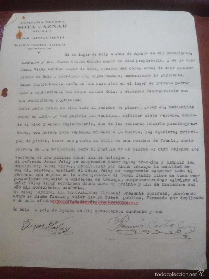 Contrato De Trabajo Kaufen Andere Alte Dokumente In Todocoleccion