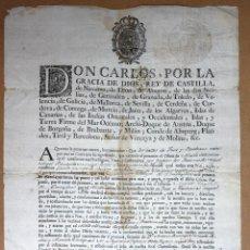 Documentos antiguos: PROVISION REAL PARA NOMBRAMIENTO DE ALCALDE ORDINARIO VALLES DE IMOZ Y BASABURUA. NAVARRA. AÑO 1793. Lote 57663981
