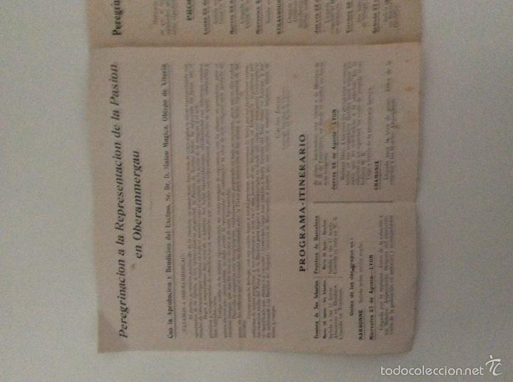 Documentos antiguos: Excepcional documento peregrinacion vitoria oberammergau 1930 - Foto 2 - 57747108