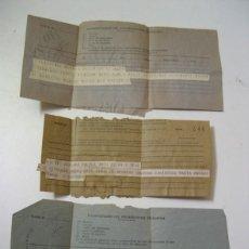 Documentos antiguos: 3 TELEGRAMAS AÑOS 40. CADIZ, MADRID Y GRANADA A MALAGA. Lote 57977648