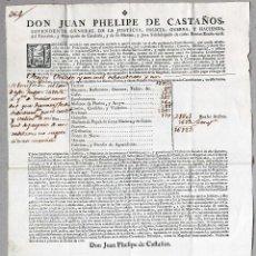 Documentos antiguos: CERTIFICADO DE PAGO DEL CATASTRO DE VERGES (EMPORDÀ) POR TIERRAS, MOLINOS DE ACEITE, ETC. 1767. Lote 57821632