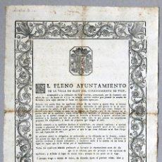 Documentos antiguos: 3 EDICTOS PARA PROVEER CÁTEDRAS DE GRAMÁTICA Y RETÓRICA EN OLOT (GERONA), AÑOS 1779, 1796 Y 1816. Lote 57821741
