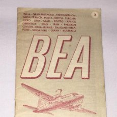 Documentos antiguos: FOLLETO PUBLICITARIO DE COMPAÑIA DE AVIONES- BEA - 1950 . Lote 57858551
