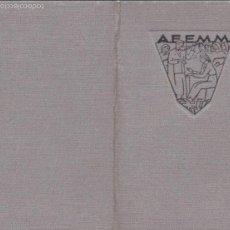 Documentos antiguos: PR- 188. CARNET DE ESTUDIANTE A.F.E.M.M. AÑO 1937.. Lote 57906663