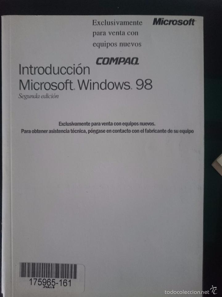 INSTRUCCIONES PARA ORDENADOR COMPAQ - INTRODUCCION MICROSOFT WINDOWS 98 --REFM1E2 (Coleccionismo - Documentos - Otros documentos)