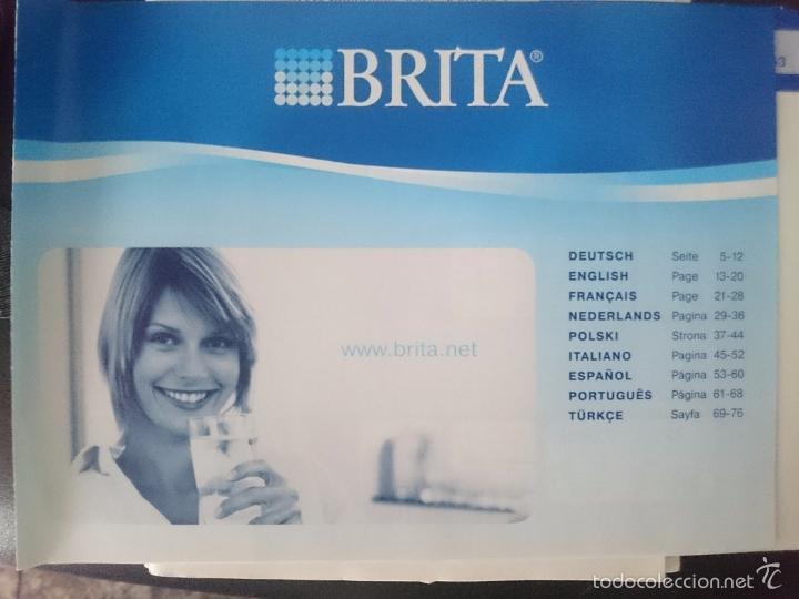 INSTRUCCIONES PARA BRITA - FILTRO AGUA (Coleccionismo - Documentos - Otros documentos)
