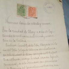 Documentos antiguos: DOCUMENTO NOTARIAL, ALCOY, 1939, AÑO DE LA VICTORIA. Lote 57941511