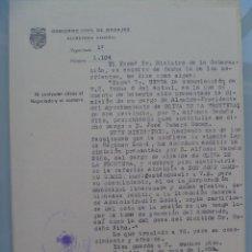 Documentos antiguos: GOBIERNO CIVIL DE BADAJOZ: NOTIFICACION DE CESE ALCALDE OLIVA DE LA FRONTERA Y NOMBRAMIENTO. 1958. Lote 57962581