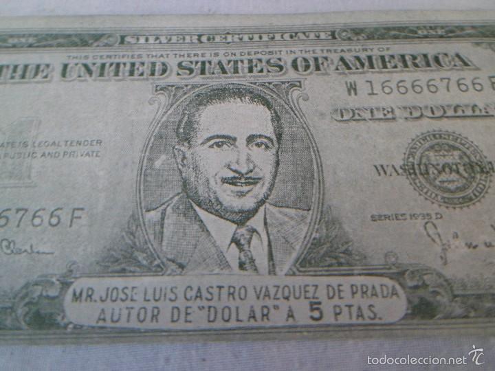 Documentos antiguos: 1 DOLAR FALLERO PUBLICADO POR LA REVISTA DOLAR EN 1954 - FALLAS VALENCIA - RARO - Foto 2 - 58082078