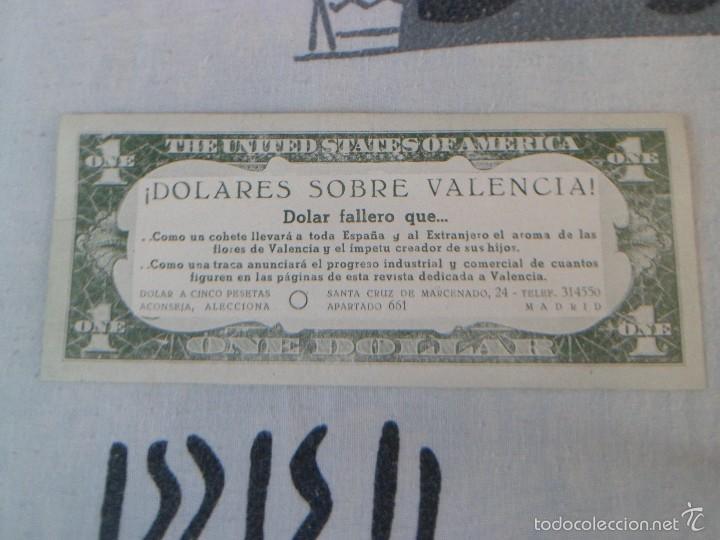Documentos antiguos: 1 DOLAR FALLERO PUBLICADO POR LA REVISTA DOLAR EN 1954 - FALLAS VALENCIA - RARO - Foto 3 - 58082078