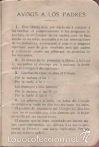 Documentos antiguos: cartilla o libreta escolar - colegio de san gabriel de valls - tarragona curso 1907 - 1908 texto - Foto 3 - 58097815