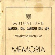Documentos antiguos: CORDOBA PEÑARROYA-PUEBLONUEVO MUTUALIDAD LABORAL DEL CARBON DEL SUR 1964. Lote 58113602