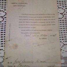 Documentos antiguos: JUNTA PERICIAL. AMILLARAMIENTO . 1947. Lote 58133704