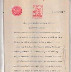 Documentos antiguos: 1921 ALBALAT DE SEGART, ALBALAT DE TORONCHERS (VALENCIA). 2 ESCRITURAS Y CERTIFICADO DE DEFUNCION. Lote 58229002