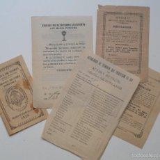 Documentos antiguos: ALCOY (ALICANTE) - LOTE 5 DOCUMENTOS AÑO 1920 DE LA SECCIÓN ADORADORA NOCTURNA ESPAÑOLA. Lote 58262939