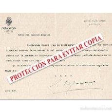 Documentos antiguos: CARTA ORIGINAL DE GABRIEL MAURA DIRIGIDA A JOAQUÍN DICENTA, 1927. Lote 58296828