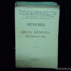 Documentos antiguos: LOTE DE MEMORIA DE LA JUNTA GENERAL ADMINISTRACION DE JUSTICIA ESPAÑA AÑOS 1932 A 1959 MADRID. Lote 58350649