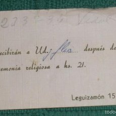 Documentos antiguos: T 3 ANTIGUA Y CURIOSA TARJETA DE VISITA. Lote 58363992