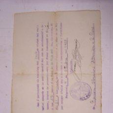 Documentos antiguos: AYUNTAMIENTO CONSTITUCIONAL DE PUIGREIG. REEMPLAZO DEL 1919. Lote 58374207
