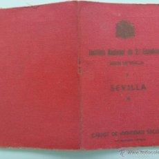 Documentos antiguos: REPUBLICA : CARNET IDENTIDAD . INSTITUTO 2ª ENSEÑANZA . SEVILLA . 1935 .. Lote 58390617
