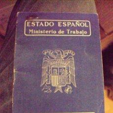 Documentos antiguos: CARTILLA PROFESIONAL DEL ESTADO ESPAÑOL EXPEDIDA EN SEVILLA EN 1948 . Lote 58445714
