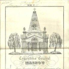 Documentos antiguos: 2353.-CEMENTERIO GENERAL DEL MASNOU-CERTIFICADO DE PAGO-AÑO 1876. Lote 58500552