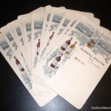 Documentos antiguos: 12 HOJAS MENU / GIMENA BRAVO FONDA / EL PITO CUDILLEN (CUDILLERO) / BODEGAS FRANCO ESPAÑOLAS. Lote 58644107