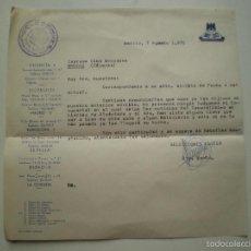 Documentos antiguos: CARTA DE EL NO-DO A CINE 1970, ASUNTO IMAGENES FRANCO EN ALCANTARA // BROZAS, CACERES 1970. Lote 58681167