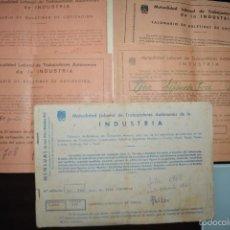 Documentos antiguos: 5 TALONARIOS DE BOLETINES DE COTIZACION DE TRABAJADORES AUTONOMOS. AÑOS 1964, 1966.1968, 1970 Y 1975. Lote 59155630