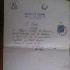 Documentos antiguos: ANTIGUO DOCUMENTO , DESPACHO SERVICIO DEMOGRAFICO, REGISTRO DE VECINDAD, AÑO 1906. Lote 59977951
