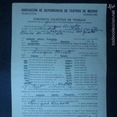 Documentos antiguos: CONTRATO COLECTIVO DE TRABAJO POR ENRIQUE CHICOTE COMO EMPRESARIO DEL TEATRO COMICO. AÑO 1930.. Lote 60094079