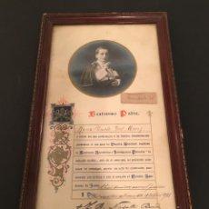 Documentos antiguos: BULA PAPAL - BENEDICTO XV - BENEDICTUS PP XV - 12 OCTUBRE 1921 - ENMARCADA - 36 X 21 CM.. Lote 60103735