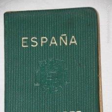 Documentos antiguos: PASAPORTE PAREJA ESPAÑOLA 1966. Lote 60354403