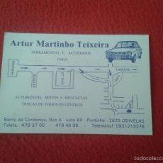 Documentos antiguos: TARJETA DE VISITA CARD PUBLICIDAD PUBLICITARIA O SIMIL PORTUGAL ODIVELAS BICICLETAS MOTOS AUTOMOVEIS. Lote 60416251
