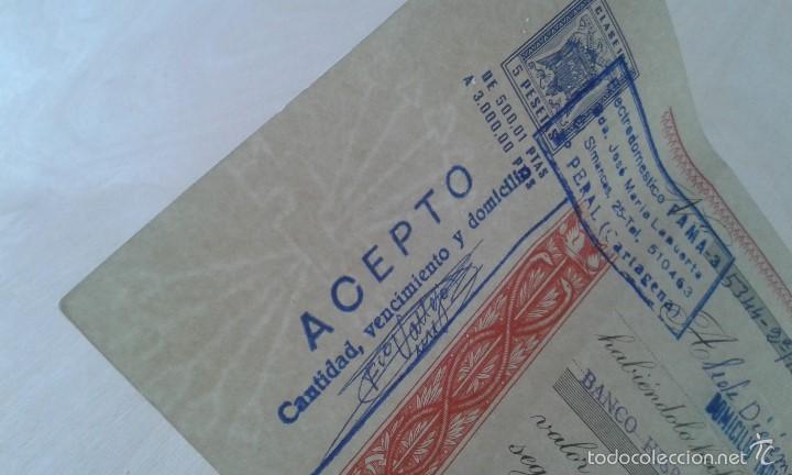 Documentos antiguos: Antiguo Impreso -- Impuesto del Estado de 5 ptas -- Cartagena 1975 -- - Foto 2 - 60643339