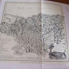 Documentos antiguos: VIZCAYA PLANO DE LA PROVINCIA LAMINA HUECOGRABADO AÑOS 30. Lote 60687535