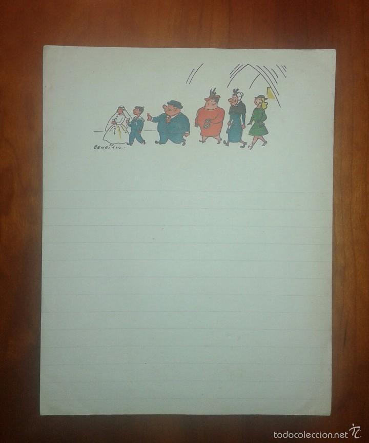 CARTA FAMILIA ULISES DEL TBO ILUSTRADA POR BENEJAM (Coleccionismo - Documentos - Otros documentos)