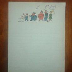 Documentos antiguos: CARTA FAMILIA ULISES DEL TBO ILUSTRADA POR BENEJAM. Lote 60695863