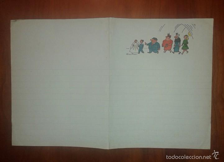Documentos antiguos: Carta familia Ulises del TBO ilustrada por Benejam - Foto 2 - 60695863