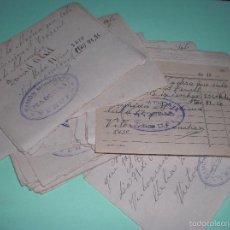 Documentos antiguos: LOTE ANTIGUOS TICKETS MADERA ZONA DE CUENCA. Lote 60796143