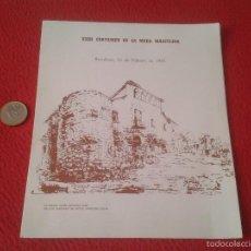Documentos antiguos: DIPTICO MENU XXIII CERTAMEN DE LA MODA MASCULINA BARCELONA 1981 HOTEL PRINCESA SOFIA HOTELES HUSA . Lote 60936371